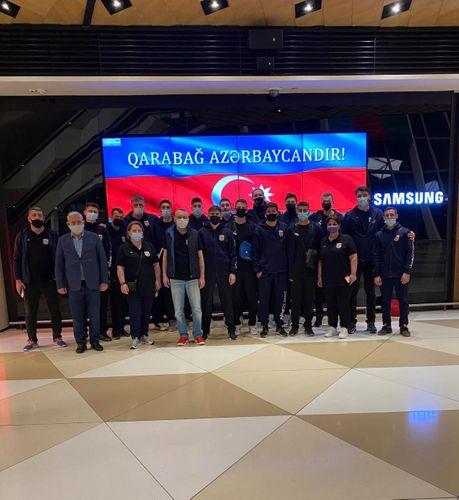 Azərbaycan millisi Avropa çempionatının oyunları üçün Gürcüstana yollanıb