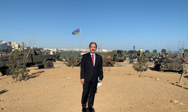 Turkish ambassador visited Military Trophies Park