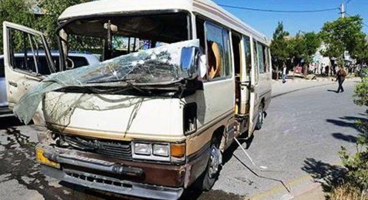 Blast targets health workers' bus in Kabul, 1 killed