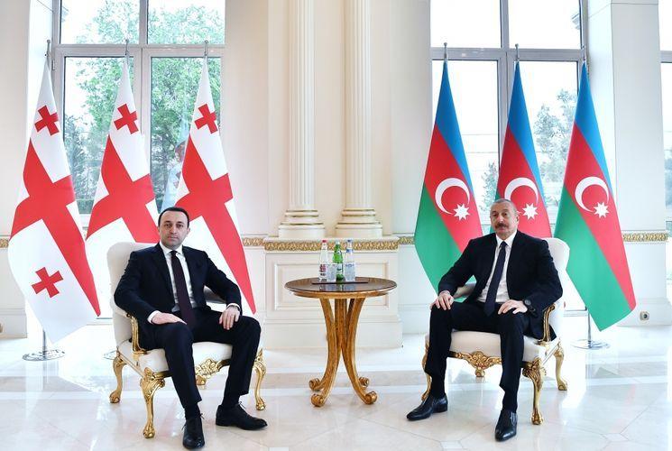 Президент Ильхам Алиев принял премьер-министра Грузии - <span class=
