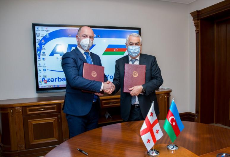 Железные дороги Азербайджана и Грузии подписали протокол о сотрудничестве