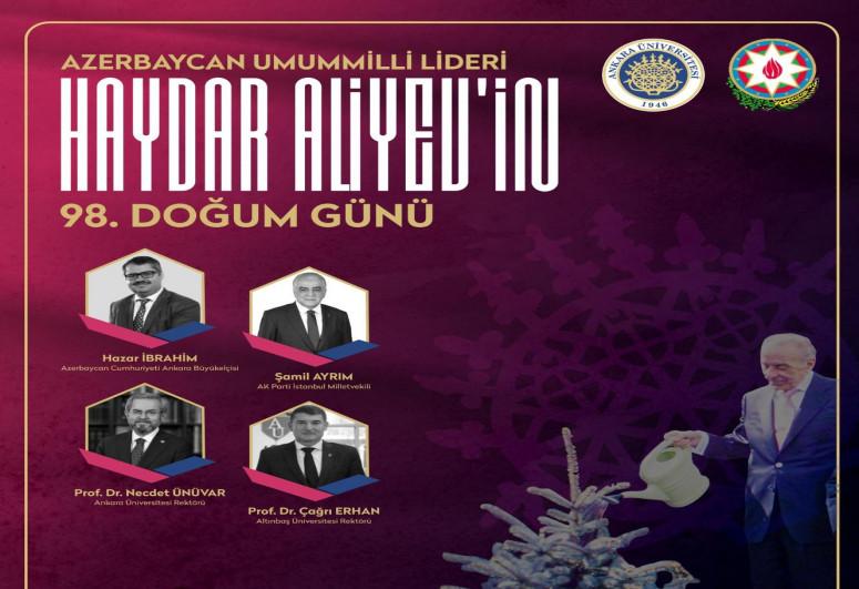 Heydər Əliyevin anadan olmasının 98-ci ildönümü ilə əlaqədar Ankarada konfrans keçirilib