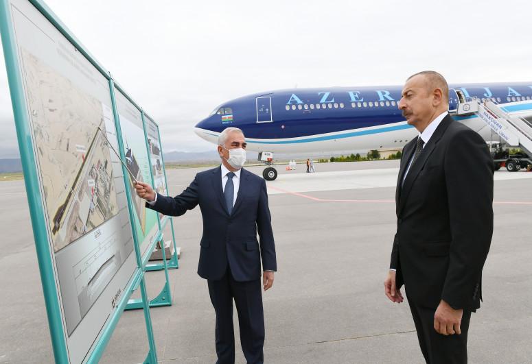 Naxçıvan Beynəlxalq Hava Limanının yeni uçuş-enmə zolağının təqdimatı olub - <span class=