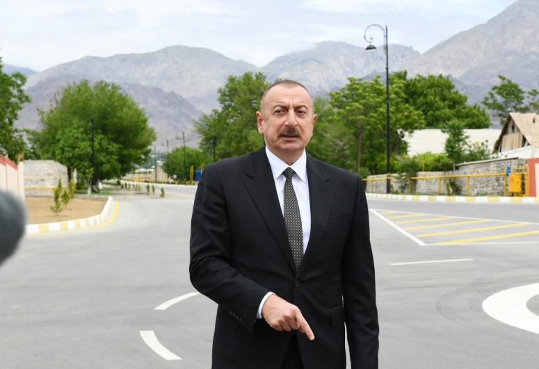 """Azərbaycan Prezidenti: """"Zəngilanı Naxçıvanla ayıran 40 kilometrlik Zəngəzur dəhlizi açılmalıdır və açılacaq"""""""