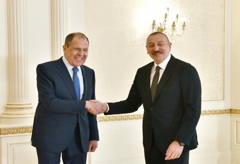 Президент Азербайджана принял делегацию, возглавляемую главой МИД РФ Сергеем Лавровым-<span class=