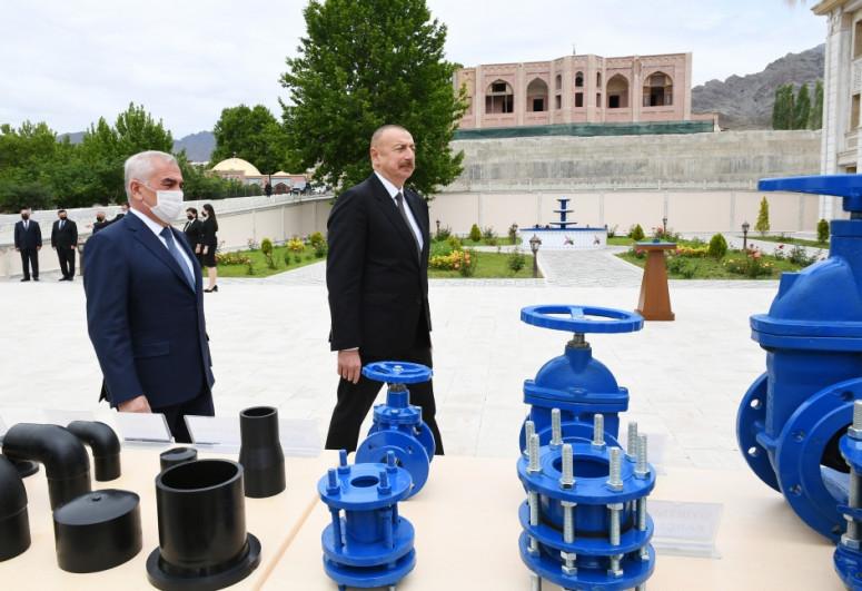 В Ордубаде состоялось открытие проекта реконструкции систем снабжения питьевой водой и канализации-<span class=