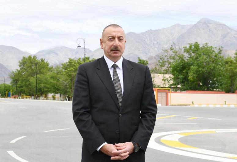 President Ilham Aliyev was interviewed by Azerbaijan Television-<span class=