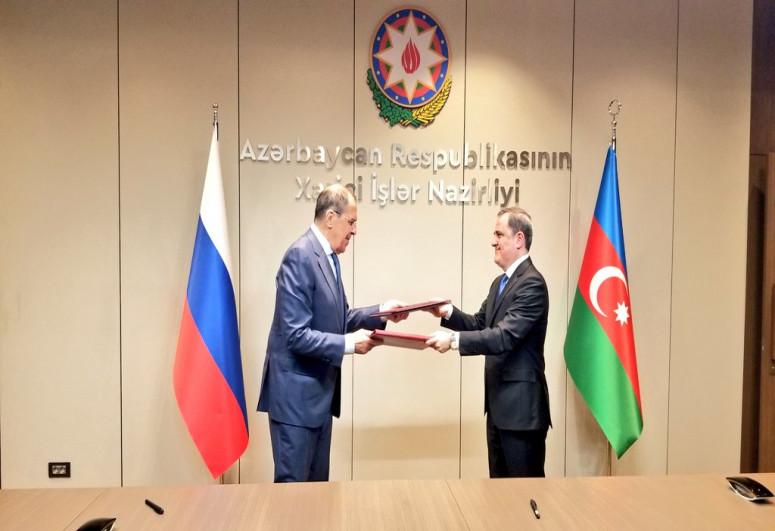 Azərbaycan və Rusiya XİN-ləri arasında 2021-2022-ci illər üçün məsləhətləşmələr Planı imzalanıb