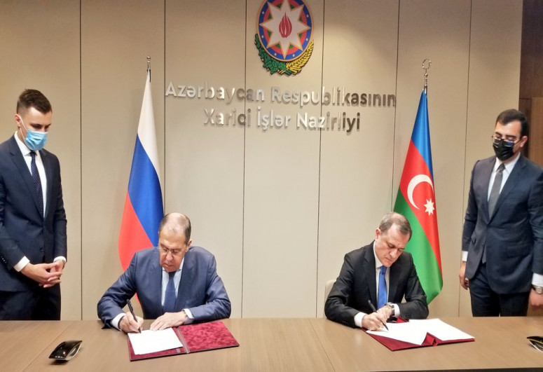 Azerbaijani and Russian MFAs signed a consultation Plan for 2021-2022