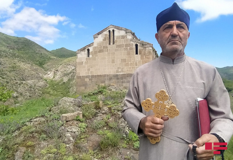 "Deputy chairman of Albanian-Udi Christian Community of Azerbaijan: ""Armenians changed crosses of ""Aghoghlan"" monastery"""