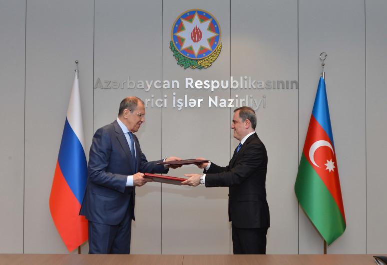 Ceyhun Bayramov Lavrovla görüşüb - <span class=