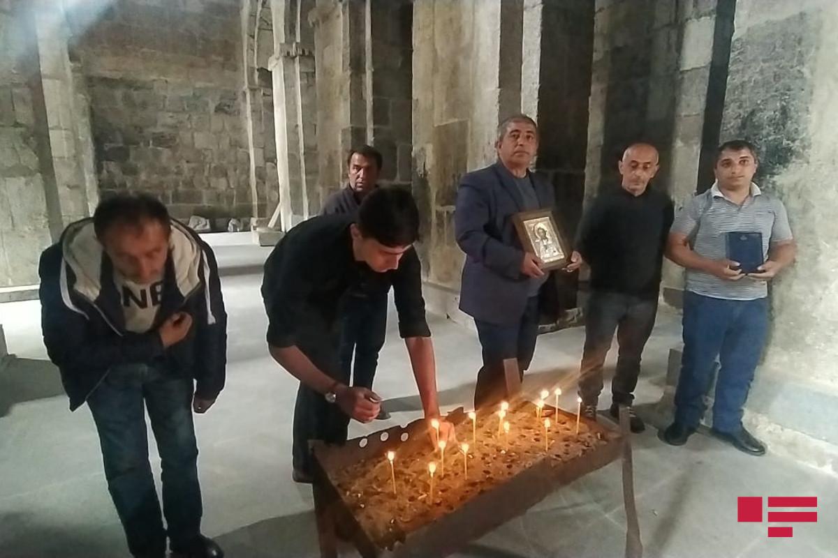 """Udilər Laçında """"Ağoğlan"""" monastırında Pasxa bayramını qeyd edib."""