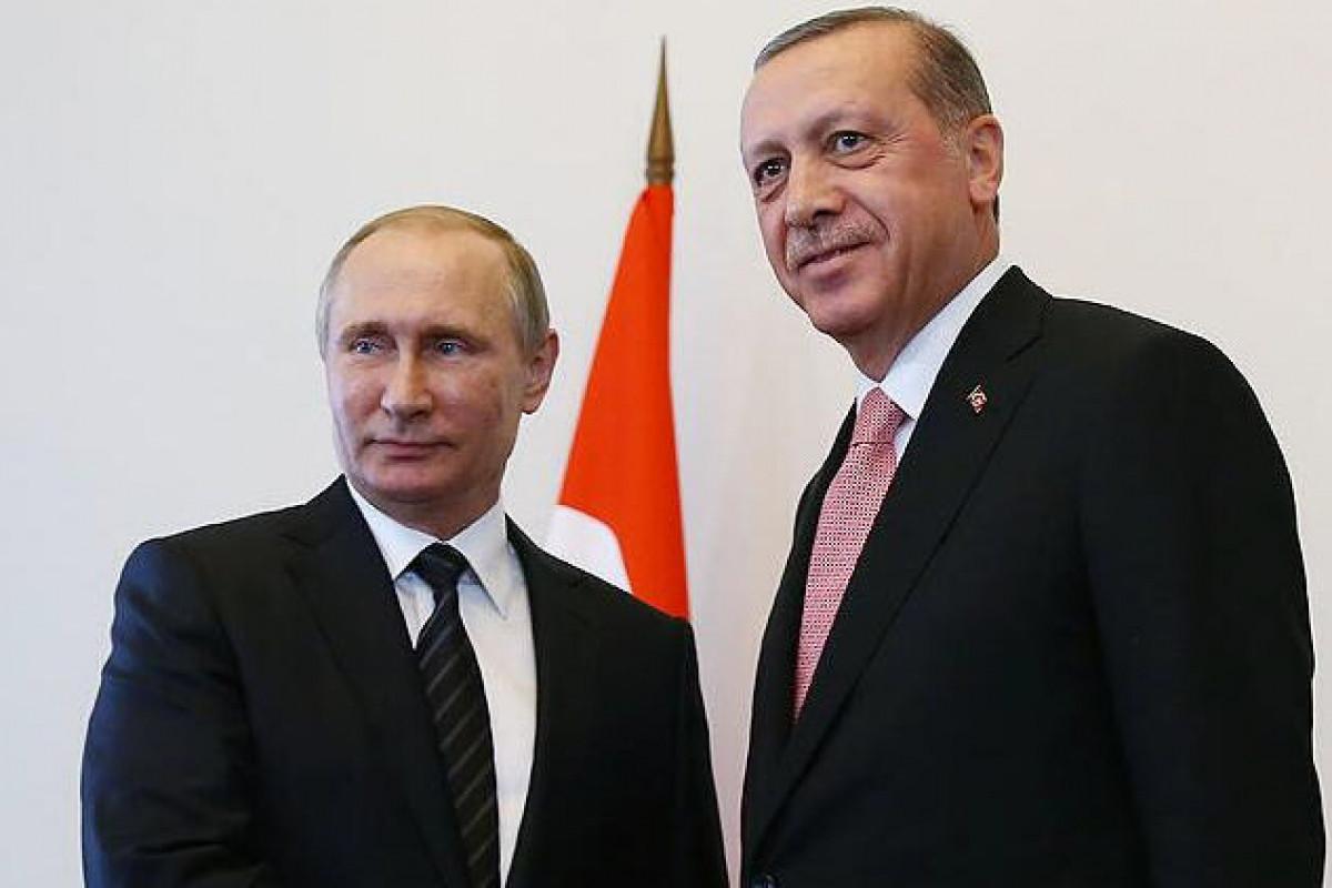 Ərdoğan və Putin Qəzzada baş verənləri müzakirə edib