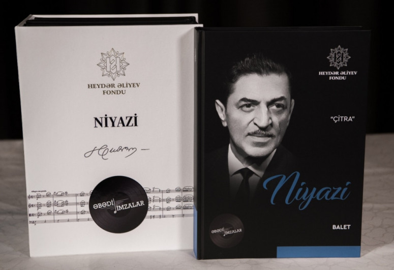 Collection of notes of Azerbaijani composers's works, published by the Heydar Aliyev Foundation, presented in Shusha
