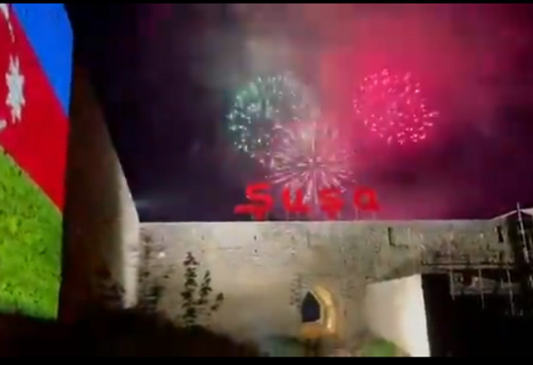 """First Vice-President Mehriban Aliyeva shared footages of fireworks organized in Shusha on her Instagram page-<span class=""""red_color"""">VIDEO</span>"""
