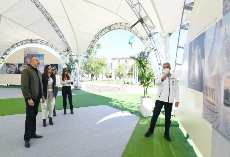 """Президент Ильхам Алиев заложил фундамент новой мечети в Шуше-<span class=""""red_color"""">ФОТО</span>"""