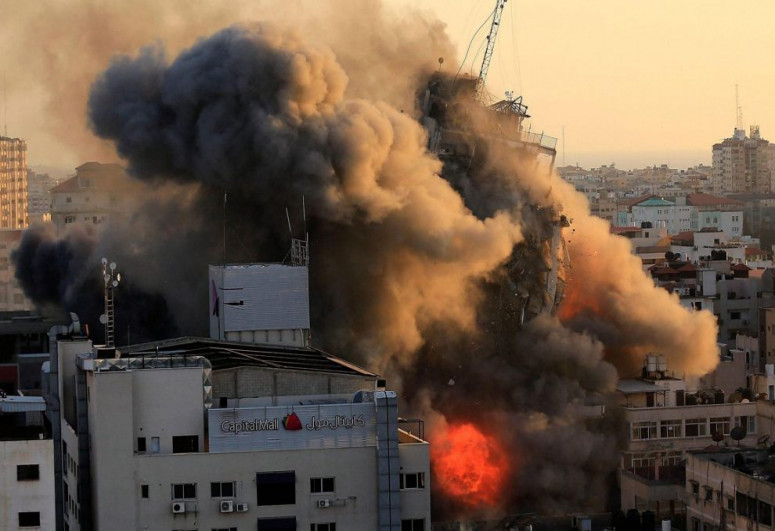 Hamas internal security HQ destroyed as a result of strikes by Israel