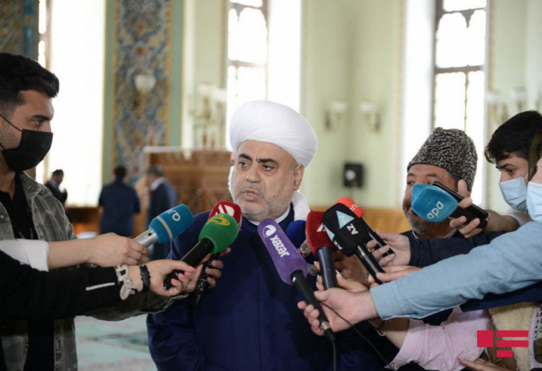 """Sheikh-ul-Islam: """"Mosque dedicated to our Victory to be built in Shusha will, inshallah, be the crown of our Motherland"""""""
