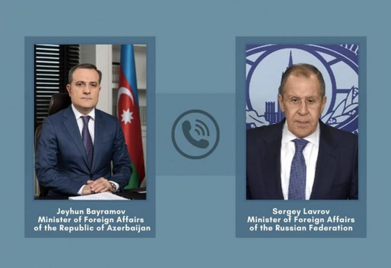 Bayramov and Lavrov discussed tensions on the Azerbaijani-Armenian border