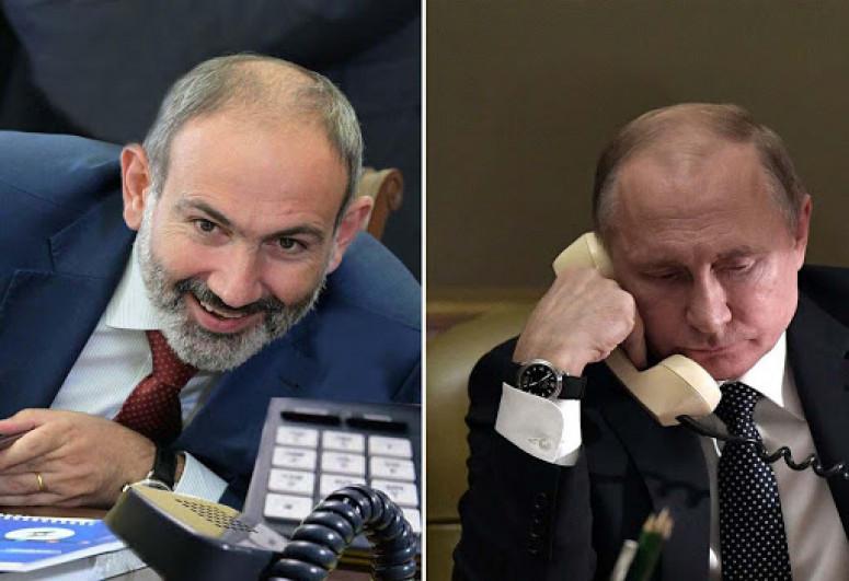 Paşinyan Putinə zəng edib