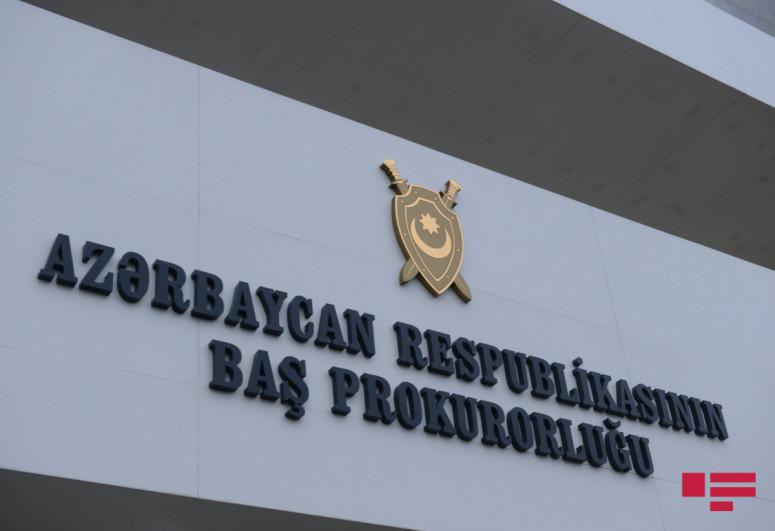 Прокуратура обнародовала информацию о самоубийстве в Ясамальском районе