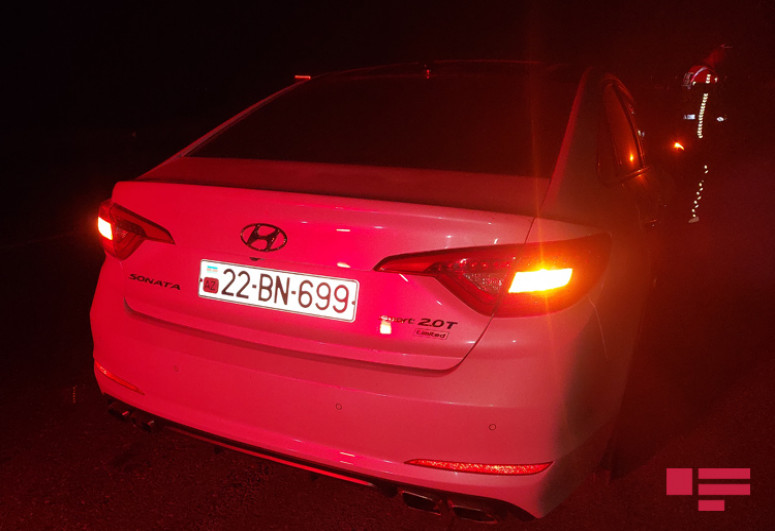 Goranboyda yol qəzasında hər iki avtomobilin sürücüsü xəsarət alıb - <span class=