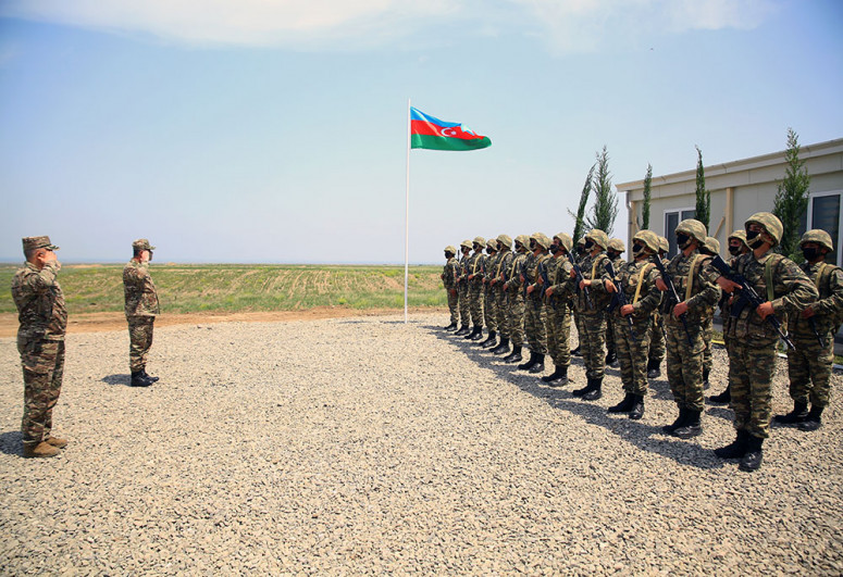 """Azerbaijani Minister of Defense took part in the opening of new military units stationed in the liberated territories -<span class=""""red_color"""">VIDEO</span>"""