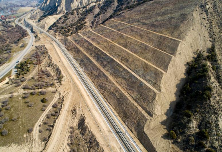 Gabala Railway Station and Laki station - Gabala single-track railway launched-<span class=