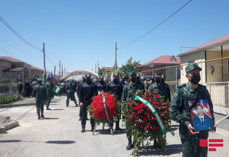 """Azerbaijani warrant officer, killed as a result of violation of state border, laid to rest in Guba-<span class=""""red_color"""">PHOTO</span>"""