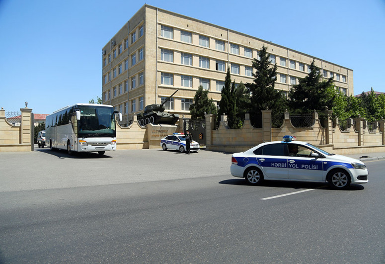 Azerbaijani MoD: Troops and military vehicles involved in the exercises have left for the exercises area