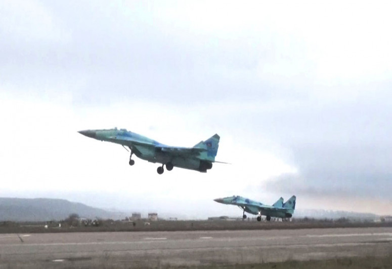 """Redeployment of combat aircraft was held in the course of the exercises -<span class=""""red_color"""">VIDEO</span>"""