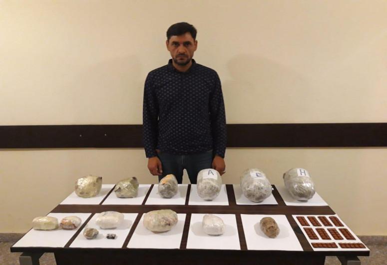 İrandan Azərbaycana 18 kq narkotik keçirmək istəyən 5 nəfər saxlanılıb
