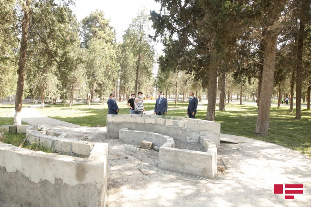 Xaçmazda Zəfər parkı inşa edilir - <span class=