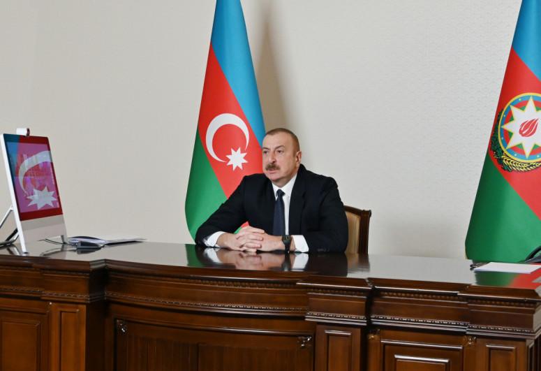 President Ilham Aliyev says situation on the Azerbaijani-Armenian border is stable