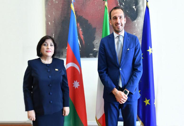 Sahiba Gafarova met with the co-chair of the Azerbaijani-Italian Intergovernmental Commission