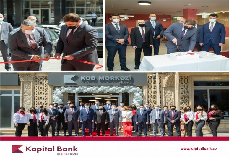 """""""Kapital Bank"""" yeni konsepsiyalı """"KOB Mərkəzi"""" filialını istifadəyə verib"""