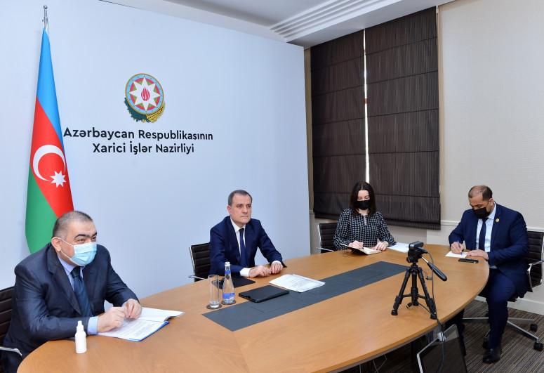 Ceyhun Bayramov BƏƏ-nin dövlət naziri ilə görüşüb