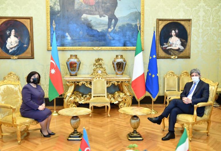 Sahibə Qafarova İtaliya Deputatlar Palatasının sədri ilə görüşüb