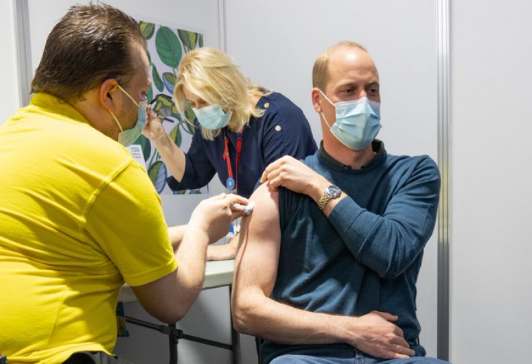Prince William gets first dose of COVID-19 vaccine