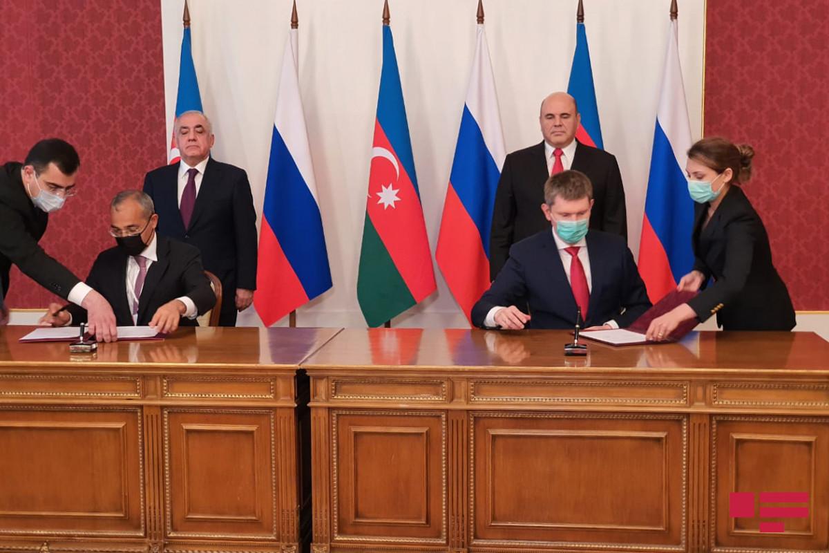"""Azərbaycanla Rusiya arasında altı sənəd imzalanıb - <span class=""""red_color"""">FOTO"""
