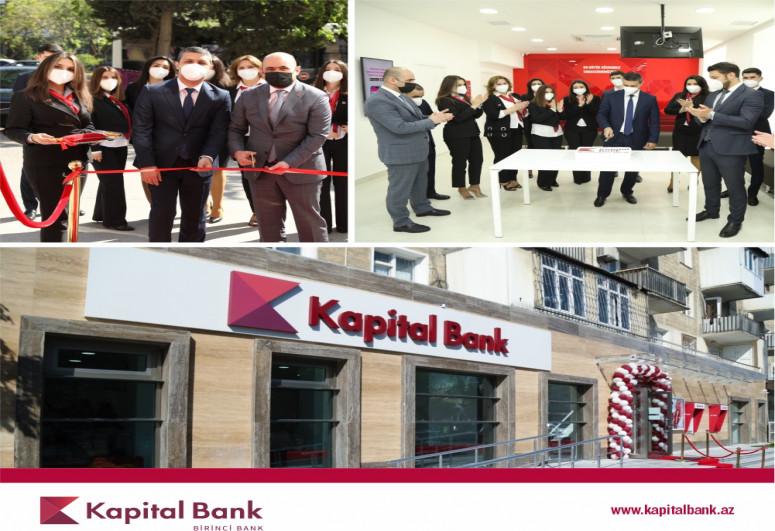 """""""Kapital Bank"""" yenilənən Nərimanov filialını istifadəyə verib"""