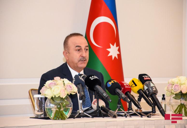 """Turkish FM: """"We will always stand by Azerbaijan"""""""