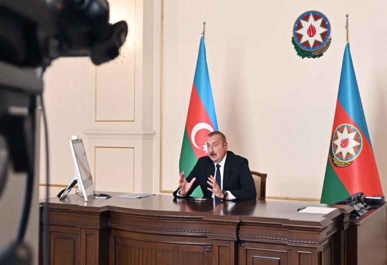 """Prezident İlham Əliyev: """"Ermənilər yalnız keçmişdən danışır, biz isə gələcək haqqında düşünürük"""""""