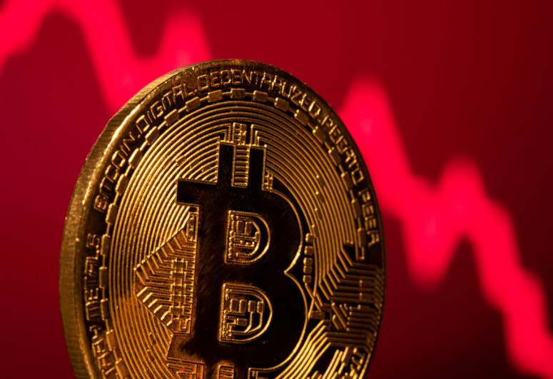 Bitcoin down almost 50% from year