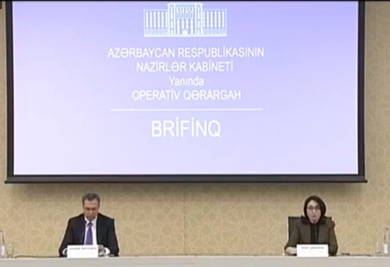 """Nazirlər Kabineti yanında Operativ Qərargahın brifinqi keçirilib - <span class=""""red_color"""">VİDEO</span>"""