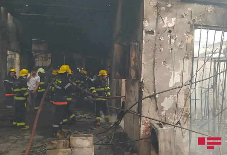 """Fire, erupted in a market in Barda, extinguished-<span class=""""red_color"""">PHOTO-<span class=""""red_color"""">VIDEO-<span class=""""red_color"""">UPDATED"""