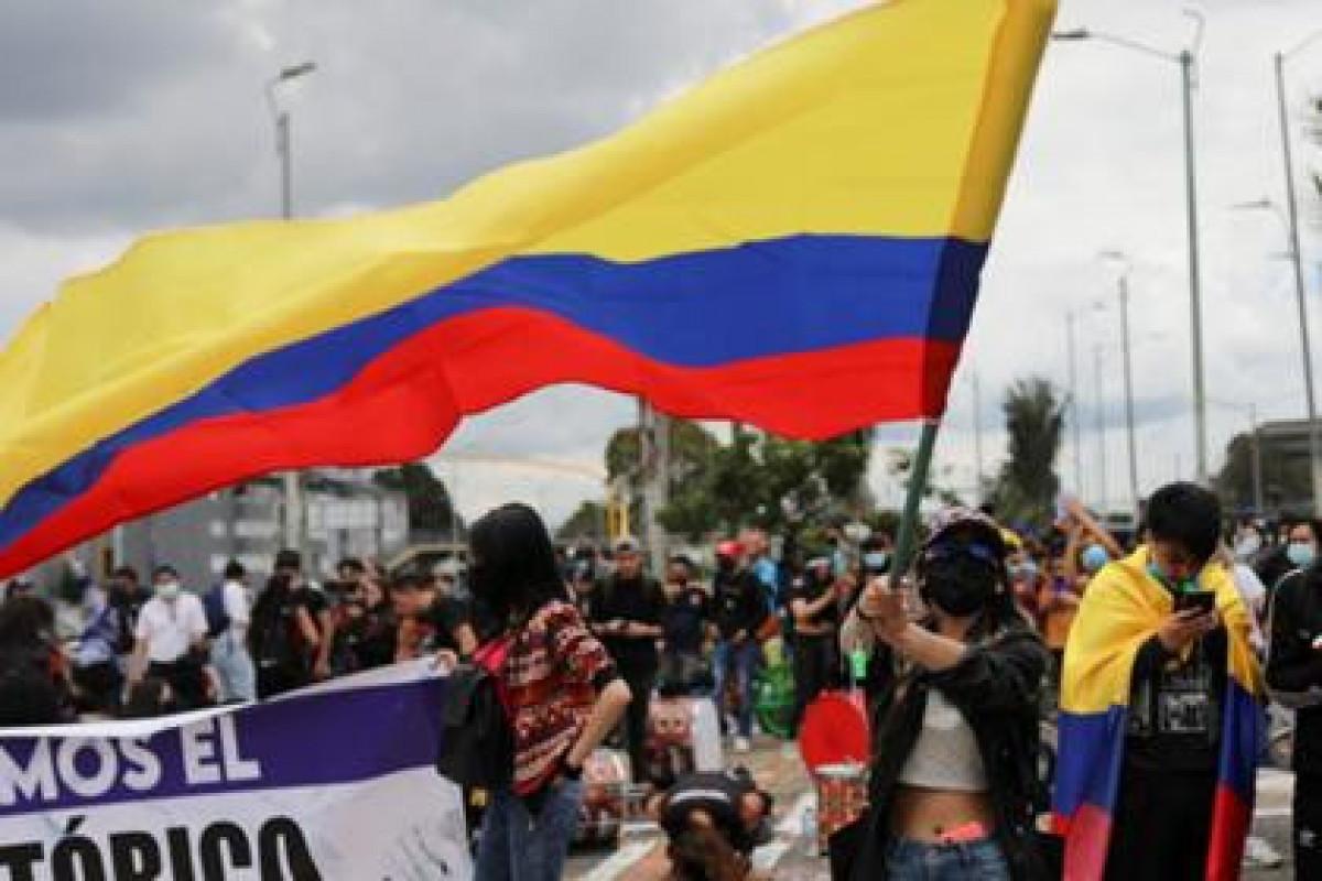 Kolumbiyada etiraz aksiyaları zamanı 2-si polis olmaqla, 28 nəfər xəsarət alıb