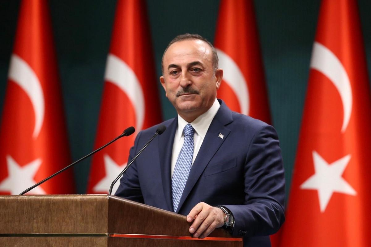 """Çavuşoğlu: """"Şanlı Azərbaycan bayrağı bu il 28 mayda işğaldan azad edilən torpaqlarda da dalğalanır"""" - <span class=""""red_color"""">VİDEO"""
