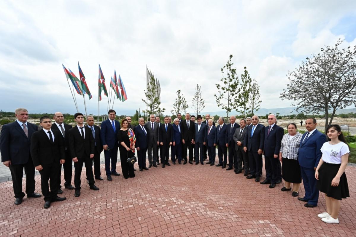 """Президент Ильхам Алиев принял участие в церемонии, посвященной началу восстановления города Агдам -<span class=""""red_color"""">ФОТО-<span class=""""red_color"""">ОБНОВЛЕНО"""