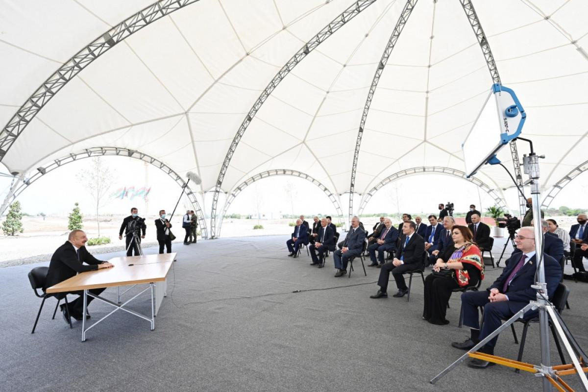 """Prezident İlham Əliyev: """"Onsuz da biz Ağdamı alacaqdıq"""" - <span class=""""red_color"""">VİDEO"""